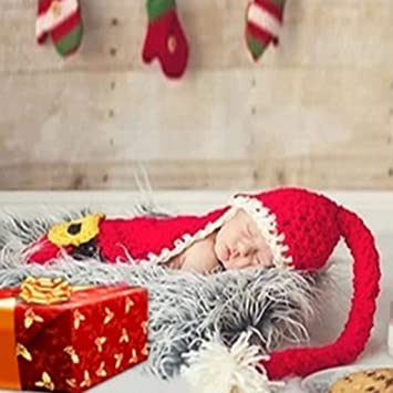 551f707e36c84 Amazon.com : Binmer Baby Photography Props, Newborn Baby Christmas Knit Crochet  Clothes Photo Photography Props Outfit : Beauty