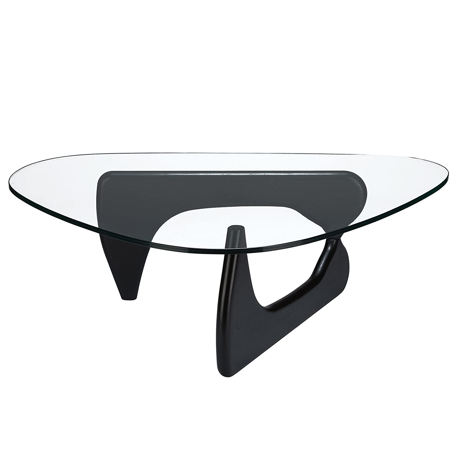 Amazon Poly and Bark Isamu Noguchi Style Coffee Table Black