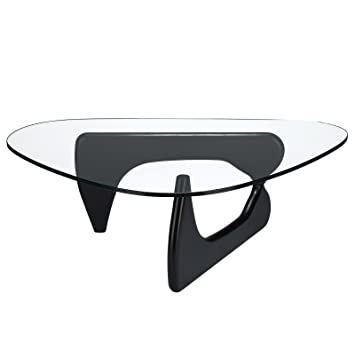 Amazon.com: Poly and Bark Isamu Noguchi Style Coffee Table, Black ...