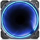 anidees AI Halo Cosmic Blue 140mm High Air Flow LED Case Fan - Blue