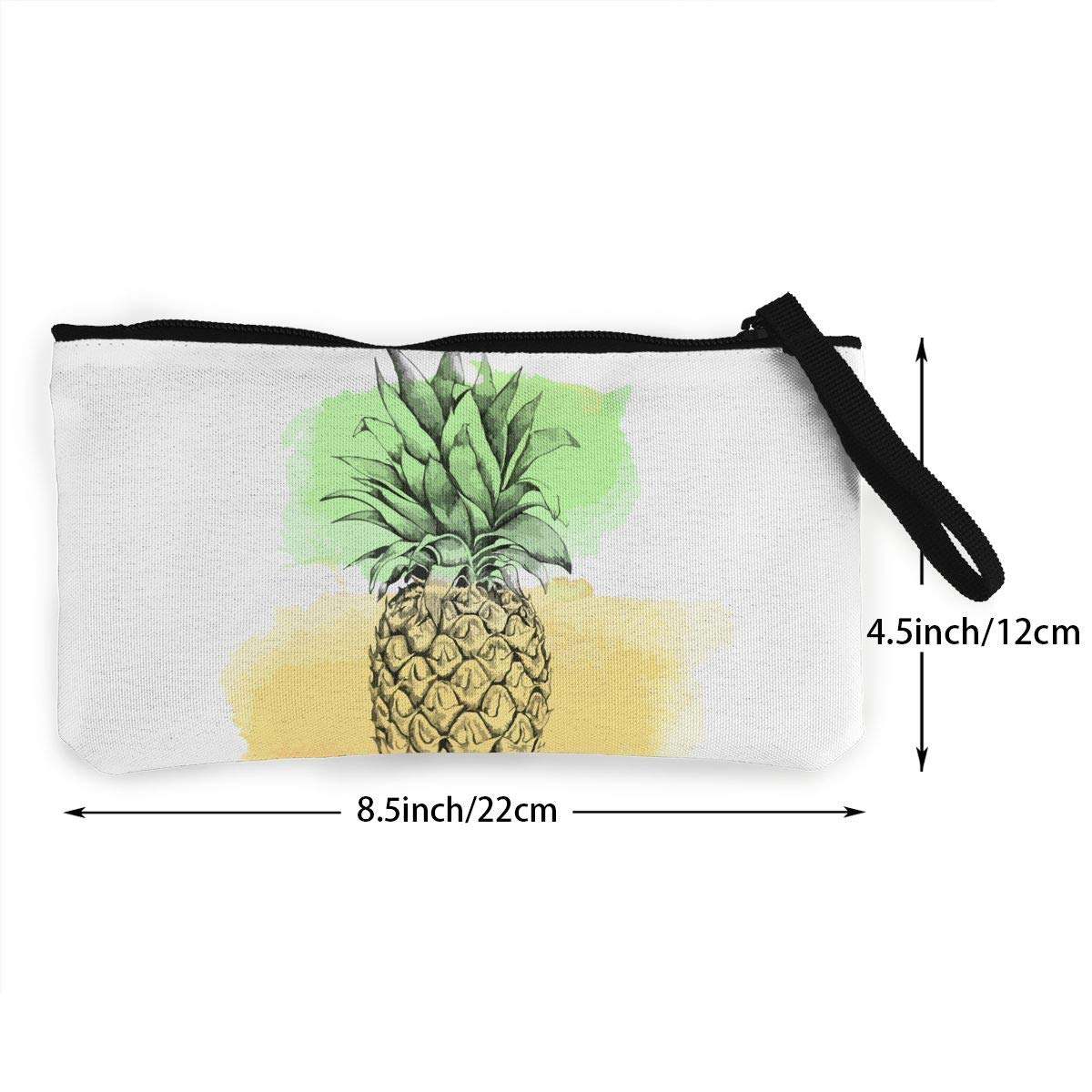 Pineapple1 Wallet Coin Purse Canvas Zipper Pencil Change Pouch For Birthday