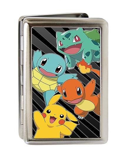 Kanto Starter Pokémon & Pikachu/POKÉMON Logo Rays3 negro ...