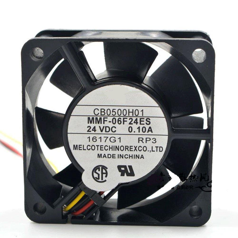 CA1638H01 DC 24V 0.1A 6025 6CM 606025mm 3 Wires MMF-06F24ES Low Power Inverter Cooling Fan