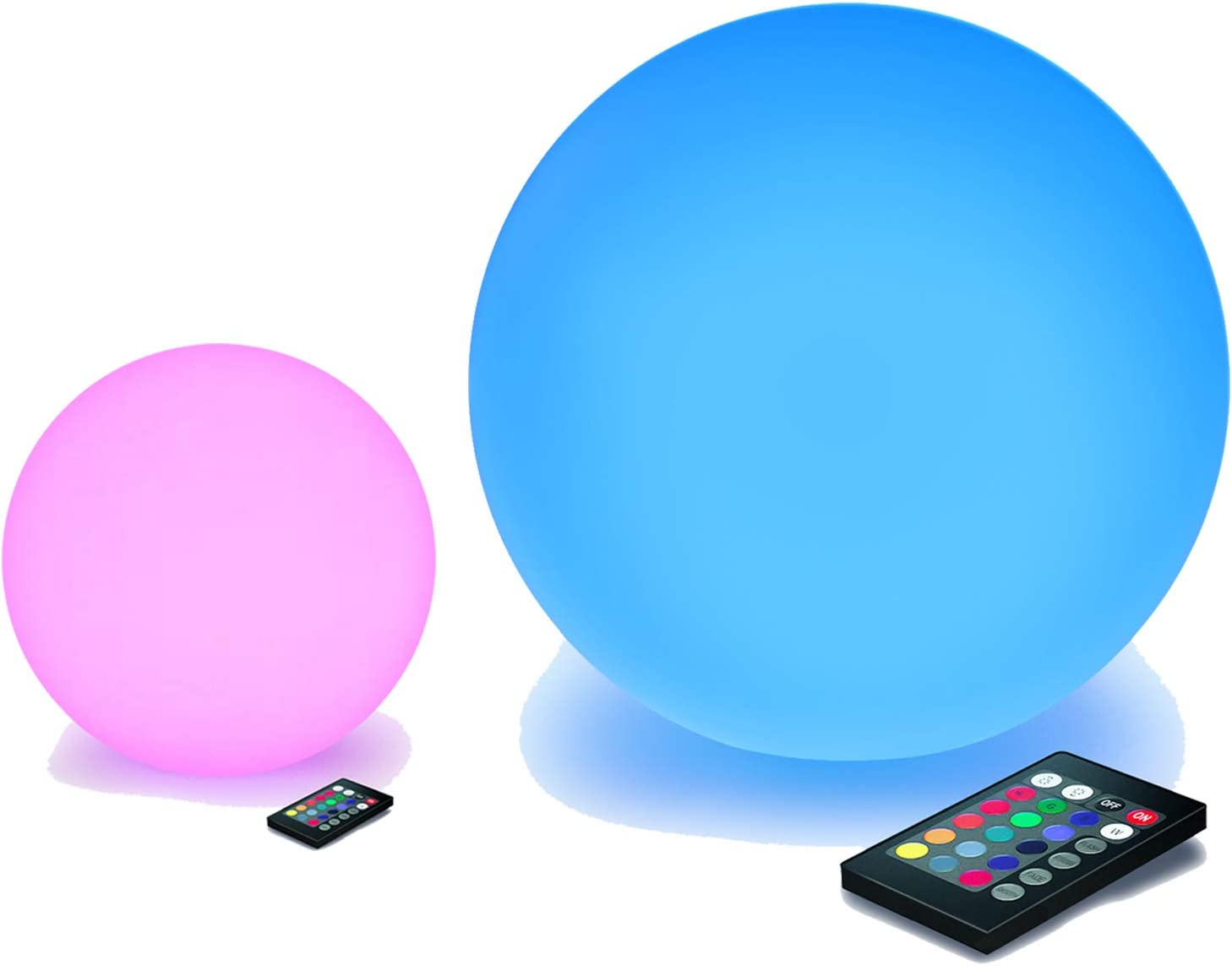 LOFTEK LED Light Ball: 8-inch Ball and 16-inch Ball 16 RGB Colors Dimming Night Light with Remote Control, Perfect for Kids Nursery and Decor Use