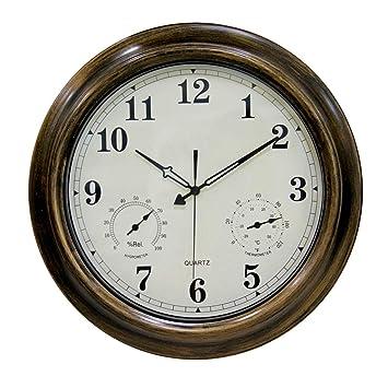 ZHZLX wall clock Horloge Murale Grand extérieur étanche