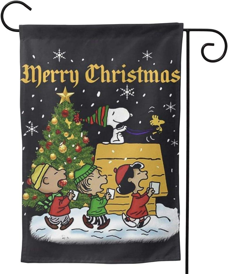OAbear Christmas Snoopy American Garden Flag Double Sided Garden Yard Decorations Flag 12.5 X 18 Inch
