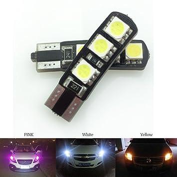 Bombillas LED para faros delanteros con función de decodificación T10-6SMD-5050 para automoción, luz de conducción, luz trasera para maletero, ...