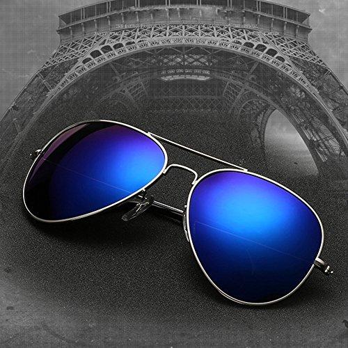 Hommes Lunettes UV TESITE Et Protection Lunettes Femmes 100 De Monture Argent Soleil De pour PolariséEs Film Bleu 7X7q4Hd