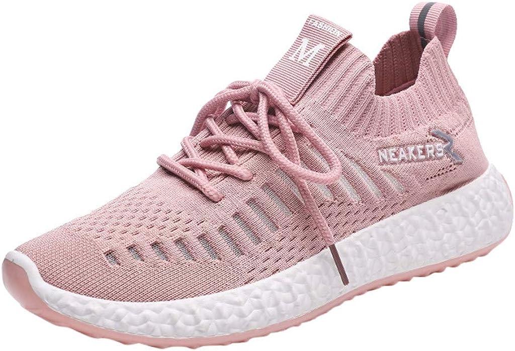 Zapatos Mujer,ZARLLE Zapatillas Running Mujer Zapatillas Deportivas Mujer De Cordones En Gimnasio Aire Libre Y Deporte Transpirables Casual Zapatos Gimnasio Correr Sneakers