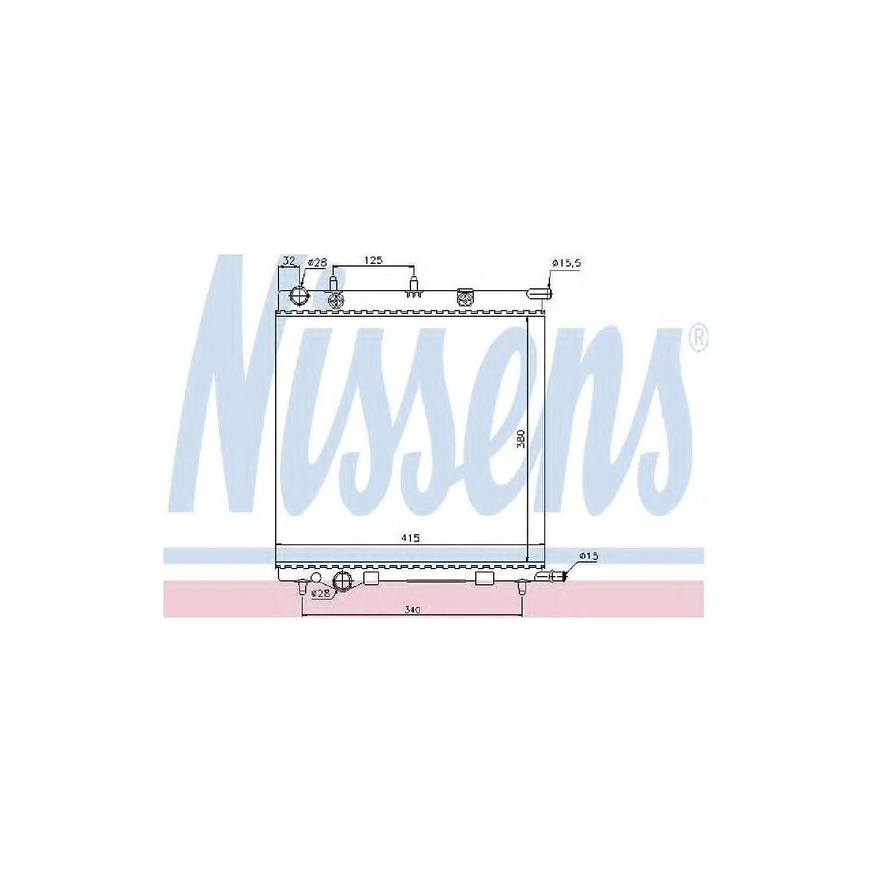 Motork/ühlung Nissens 61284 K/ühler