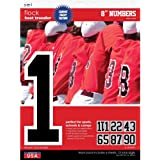 S.E.I 8-Inch Iron-On Team Pack Numbers, Black