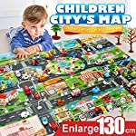 Fiaya Kids Foldable Mini Play Mat City Road Buildings Parking Map Game Scene Map Educational Toys