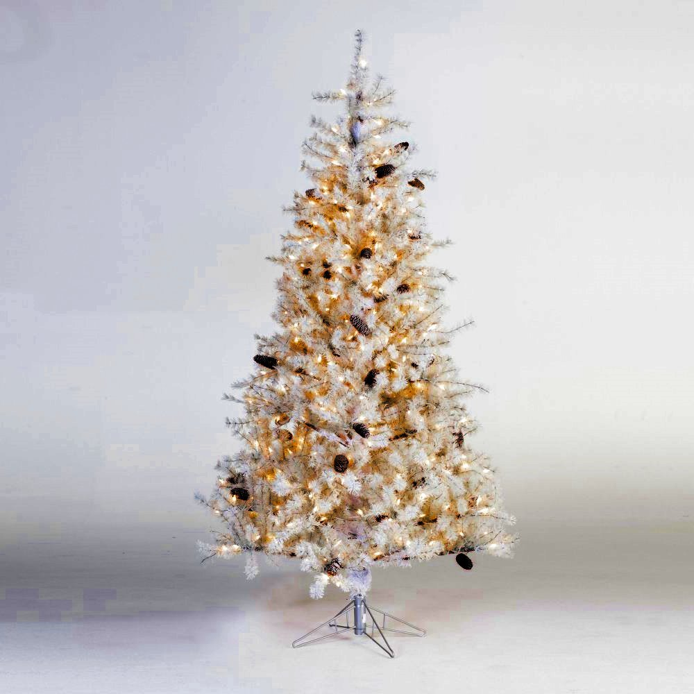 Artificial Christmas Tree. Fake Xmas Frosted Design Fir Looks Stylish With It's Classic Pine Shape, Dense Foliage, Tender White Needles. Great For Indoor Holiday Season Party Decor. (7 Foot) by Artificial-Christmas-Tree