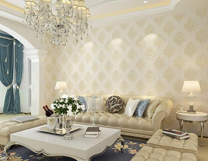 Vliestapete   Damaskus Dekorative Tapete   Für Wohnzimmer Schlafzimmer Wandverkleidung Hintergrund