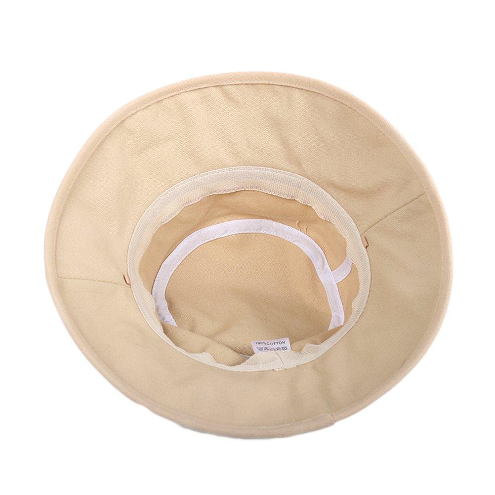 CACUSS Sombrero de Verano para Mujeres Sol Playa Plegable Sombrero Anti UV Gorra de Sol UPF50