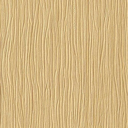 Textured Wallpaper Gold (Forest Gold Leaf Embossed Textured Wallpaper For Walls - Double Roll - By Romosa Wallcoverings)
