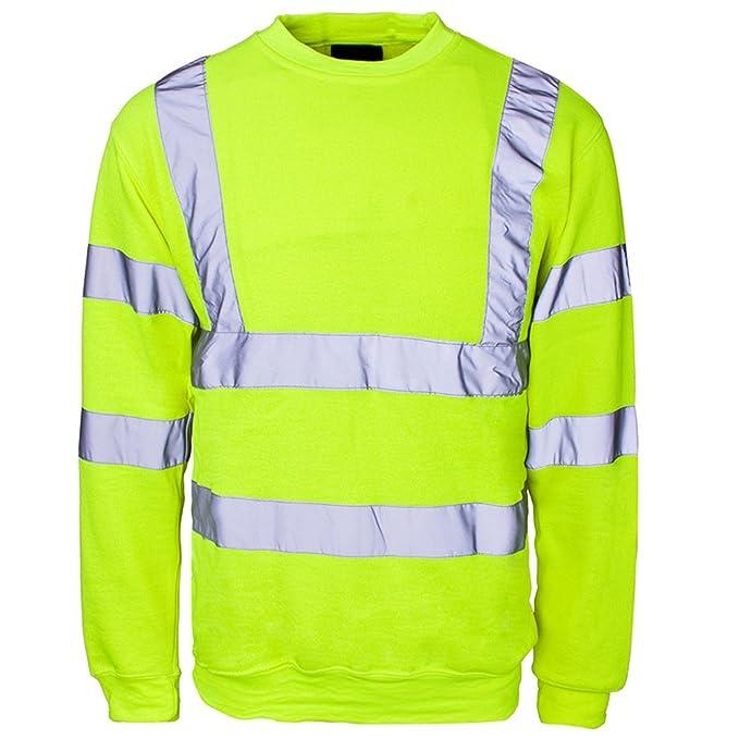 Sicherheitsbekleidung Sweatshirt Herren Pullover, Hochsichtbar: Amazon.de:  Bekleidung