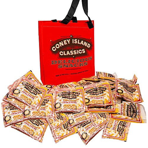 (Coney Island Classics Premium Movie Theater Popcorn 8 Ounce Bag All In One Portion Kit With Coconut Oil & Flavored Salt With Bonus Large Tote Bag Bulk 24CT)