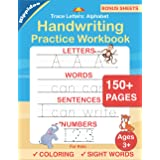 Trace Letters: Alphabet Handwriting Practice workbook for kids: Preschool writing Workbook with Sight words for Pre K, Kinder