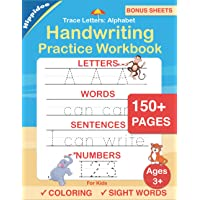 Trace Letters: Alphabet Handwriting Practice workbook for kids: Preschool writing Workbook with Sight words for Pre K…