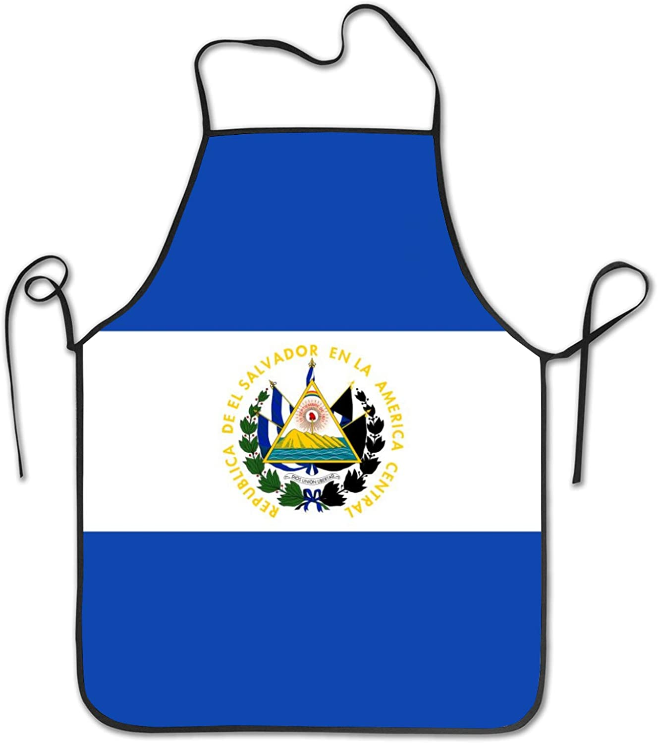 SWEET TANG Oil Proof Cooking Apron for Women Kitchen Waist Bib El Salvador Flag, Soft and Easy Clean Aprons Unique Holiday Decor Aprons for Crafting BBQ Drawing