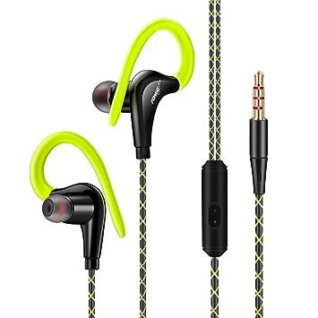 Auriculares deportivos estéreo profesionales con gancho para la ...