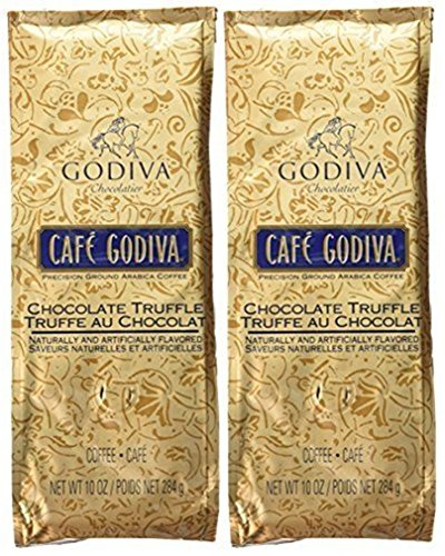 Café Godiva Chocolate Truffle Ground Coffee Two 10 oz. bags