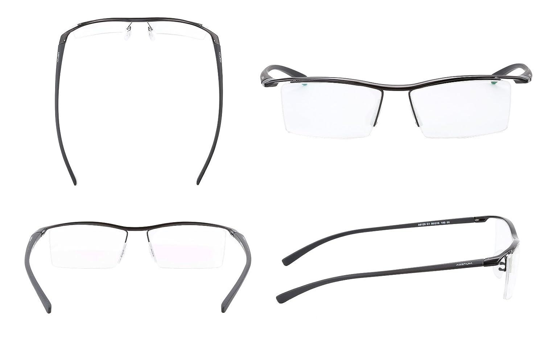 Amazon.com: Agstum Pure Titanium Half Rimless Business Glasses Frame ...