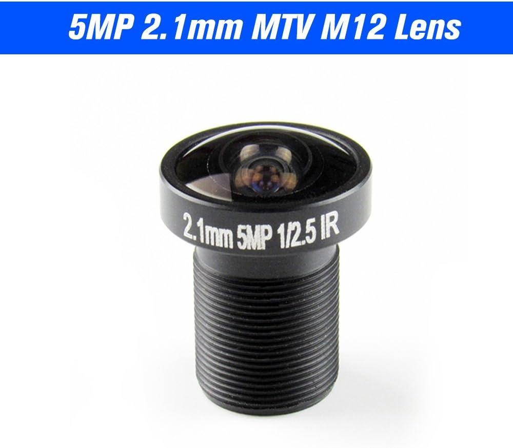 Festnight M12 HD 2.8-12mm 3 Megapixel F1.4 Manual Focus Zoom Varifocal CCTV MTV IR Lens Fixed Iris for CCTV Security Camera No IR Filter