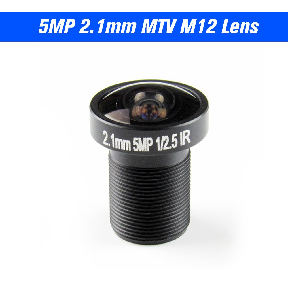 2.1mm Lens Fisheye CCTV Lens 1//2.5 HD 5.0 Megapixel for IP CCTV Cameras M12 Mount 155/° Compatible Wide Angle Panoramic CCTV Camera Lens