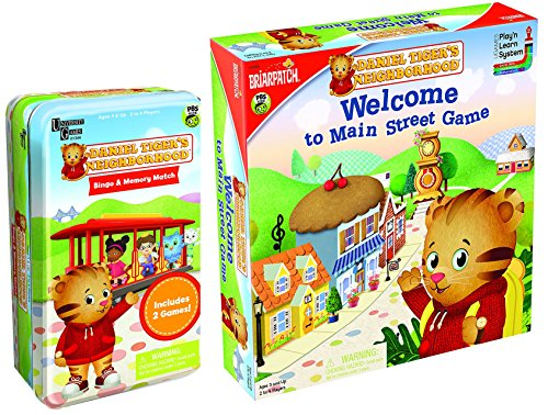 Briar Patch Daniel Tiger Main Street Game and Two Game Tin Bundle 2 items
