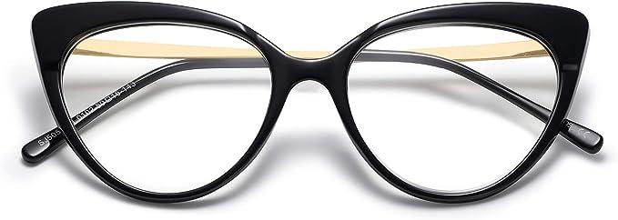 SHINU Womens Cateye Frame Blue Light Blocking Computer Myopia Glasses for Shortsighted Eyes-RD142