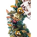 30-in-Artificial-Pre-Lit-LED-Decorated-Christmas-Wreath-Gold-Berry-and-Ornament-decorations-100-super-mini-LED-warm-clear-colored-lights-with-timer-and-battery-pack-for-indoor-and-outdoor-use