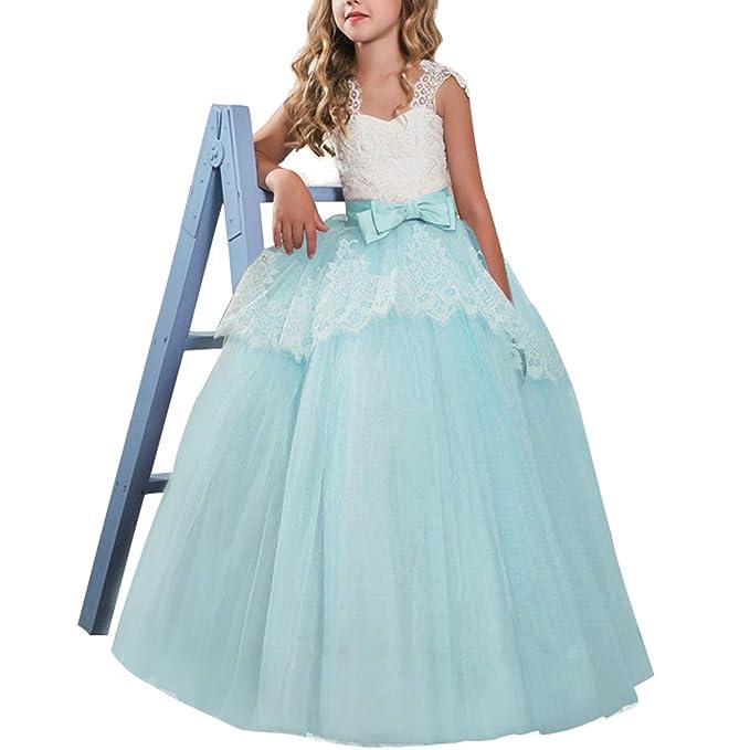 TTYAOVO Vestido de Princesa para Niñas Vestido de Fiesta de ...