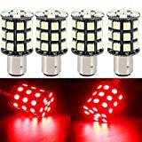 EverBright 4-Pack Red 1157 BAY15D 1016 1034 1157A 2057 7528 Base 36 SMD 5050 LED Replacement Bulb For Car Reverse Light Backup Bulb Stop Parking Rear Tail Lamp (DC-12V)
