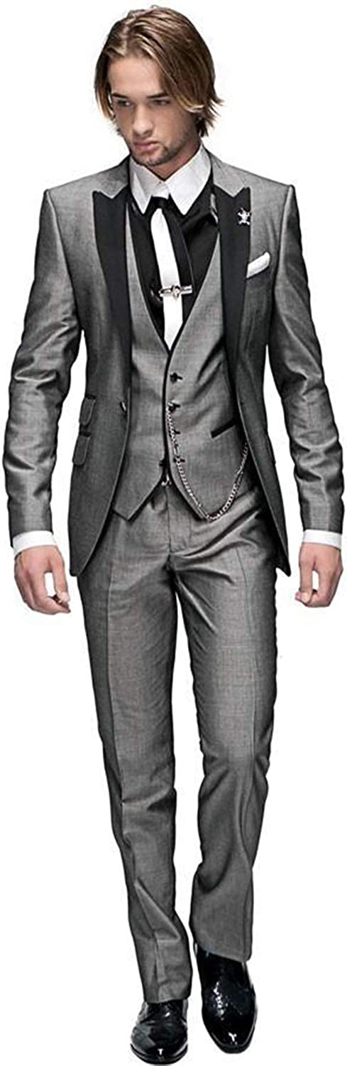 mys Men de Custom Made Groomsman Shining Esmoquin Traje Pants ...