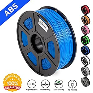 ABS Filaments for 3D Printer-SUNLU Yellow ABS Filament 1.75 mm,Low Odor Dimensional Accuracy +/- 0.02 mm 3D Printing Filament,2.2 LBS (1KG) Spool 3D Printer Filament for 3D Printers & 3D Pens from SUNLU