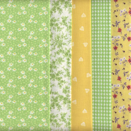 5-green-yellow-fat-quarters-set-chelsea-co-ordinating-french-fabric-mini-designs-100-cotton-by-texti