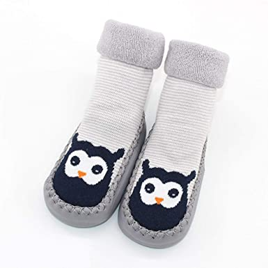 0512b3a9f906 Amazon.com: WARMSHOP Unisex Baby Boys Girls Cartoon Animal Anti-Slip Floor  Socks Breathable Toddler Anklet First Walkers Crib Shoes: Clothing
