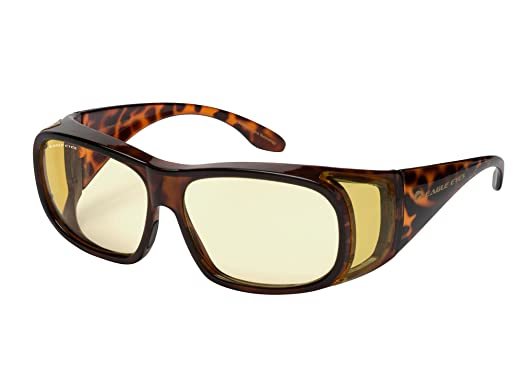 de1f683b5eb51 Eagle Eyes NIGHT-LITE FitOns Night Driving Glasses with Anti Reflective  Coating - Tortoise