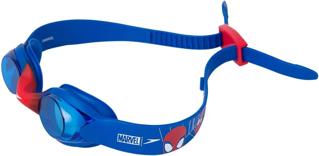One Size Speedo Unisex-Youth Illusion Disney Goggle Neon Blue//Lava Red//Blue