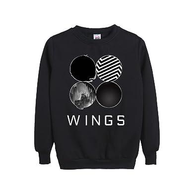 b5bd51bc74c6f Amazon.com  Bangtan Boys BTS New Album WINGS Sweater SUGA J-HOPE JIN V  JIMIN Sweatshirt Shirt  Clothing