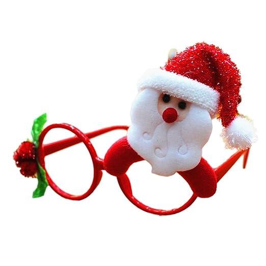 Amazon.com: Oksale Women Men Creative Glasses Frames Merry Christmas ...