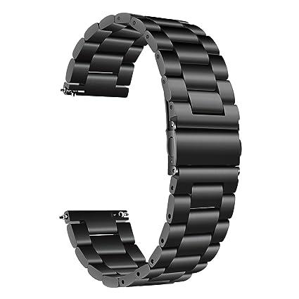 TRUMiRR para Samsung Galaxy Watch 42mm Band, 20mm Correa de Reloj de Pulsera de Metal con Correa de Acero Inoxidable sólido para Galaxy Watch 42mm ...