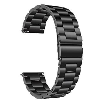 TRUMiRR pour Samsung Galaxy Montre 42mm Bande, 20mm Bracelet en Acier Inoxydable Solide Bracelet en