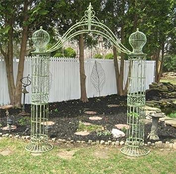 Amazon Garden Trellis Arch 9 Tall Wrought Iron Antique
