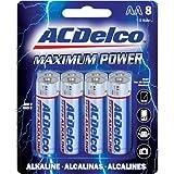 Kole Imports Battery 8 Pack Acdelco AA Alkaline Batteries (EL573)