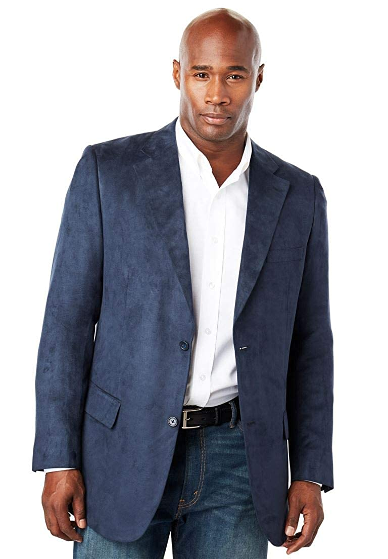 KingSize Men's Big & Tall Microsuede Blazer