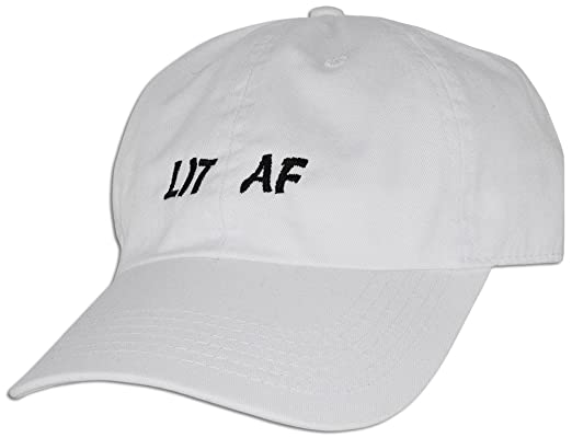 LIT AF Embroidered Dad Hat Cap Adjustable New Best Unstructured Soft Unisex  NEW (White)  Amazon.in  Clothing   Accessories 83059694667a