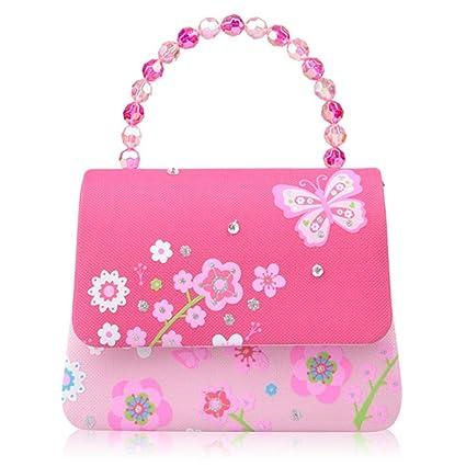 Bolsos lindos de las niñas Rosa Princesa Flores Mariposa ...